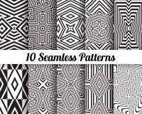 Set 10 Abstrakcjonistycznych wzorów Obraz Royalty Free