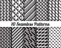 Set 10 Abstrakcjonistycznych wzorów Fotografia Royalty Free