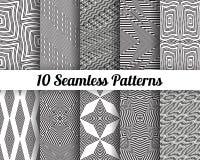 Set 10 Abstrakcjonistycznych wzorów Zdjęcia Stock