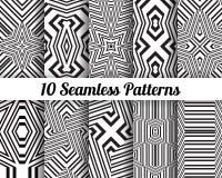 Set 10 Abstrakcjonistycznych wzorów Zdjęcia Royalty Free