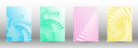Set abstraktów wzory z zniekształcać liniami ilustracji