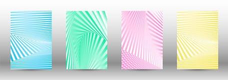 Set abstraktów wzory z zniekształcać liniami royalty ilustracja
