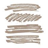 Set abstrakta muśnięcia tło Obrazy Royalty Free
