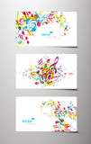 Set abstrakte bunte Musikmarken. Stockfoto