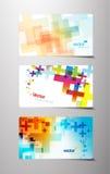 Set abstrakte bunte Quervarianten. Lizenzfreies Stockfoto