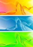 Set abstrakte Fahnen Stock Abbildung