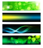Set abstrakte Fahnen. Stockfotografie