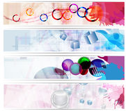 Set abstrakte Fahnen Lizenzfreie Stockfotografie