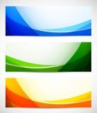 Set abstrakte Fahnen vektor abbildung