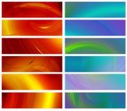 Set abstrakte Fahnen 480x1800px Stockbilder