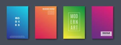 Set abstrakte Fahnen Moderne Auslegung Vektor lizenzfreie abbildung