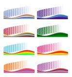 Set abstrakte Hintergründe Lizenzfreie Stockfotos