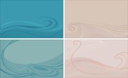 Set abstrakte Hintergründe Stockfoto