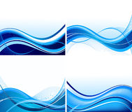 Set abstrakte Hintergründe stock abbildung