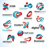 Set abstrakte Ikonen 3d Lizenzfreies Stockfoto