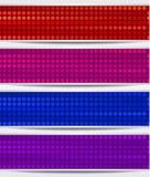 Set abstrakte Mosaik-Fahnen Stockbild