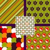 Set abstrakte Muster Auch im corel abgehobenen Betrag Lizenzfreie Stockbilder