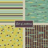 Set abstrakte Muster Auch im corel abgehobenen Betrag Lizenzfreies Stockbild