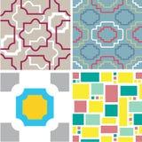 Set abstrakte nahtlose Muster Lizenzfreie Stockfotos