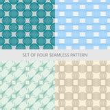 Set abstrakte nahtlose Muster Lizenzfreie Stockbilder