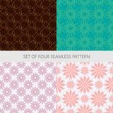 Set abstrakte nahtlose Muster Stockfotos