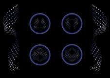 Set abstrakte punktierte Formen Stockfotos