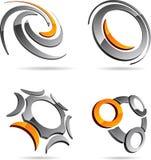 Set abstrakte Symbole. Lizenzfreies Stockbild