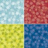 Set abstrakter Blumenhintergrund vektor abbildung