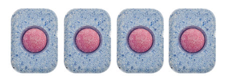 Set Abwasch-Tabletten Stockbilder