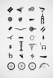 Set of accessories for the bike. Royalty Free Stock Images