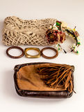 Set-a  of accessories and fashionable stylish clothes Royalty Free Stock Images