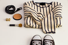 Set-a  of accessories and fashionable stylish clothes Stock Photo