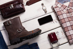 Set of daily accessories. Royalty Free Stock Photography