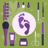 Set of accessories and tools for pedicure and manicure Royalty Free Stock Photo