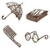 Set of accessories. Vector illustration of a set of accessories Royalty Free Stock Images