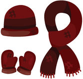 Set of accessories winter clothing royalty free illustration