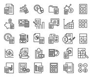 Set of accounting thin line icons. High quality pictograms of finance. Modern outline style icons collection Royalty Free Stock Image