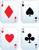 Set of aces Royalty Free Stock Photos