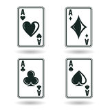 Set of aces Stock Photography