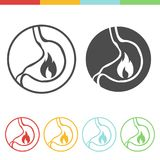 Acid reflux  icons Royalty Free Stock Photography