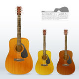 Set of acoustic guitars Stock Photo