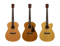 Set of acoustic guitars Royalty Free Stock Photos