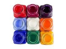 A set of acrylic paint Royalty Free Stock Image