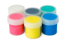 Set of acrylic paints Stock Photo