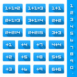 Set additions Numbers Royalty Free Stock Photos