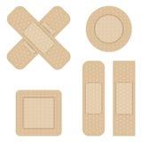 Set of Adhesive bandage Stock Images