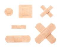 Set of adhesive bandage sticking plasters Royalty Free Stock Photography