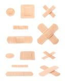 Set of adhesive bandage sticking plasters Stock Images