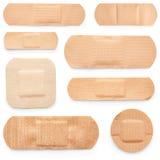 Set of adhesive plasters Stock Image