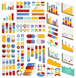 Set of Adjustable Infographics , Icon , Charts, Diagrams element Royalty Free Stock Images